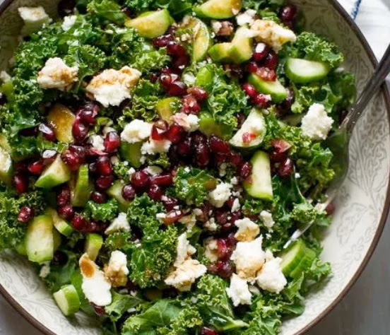 Kale and pomegranate spring salad | Shulman Weightloss