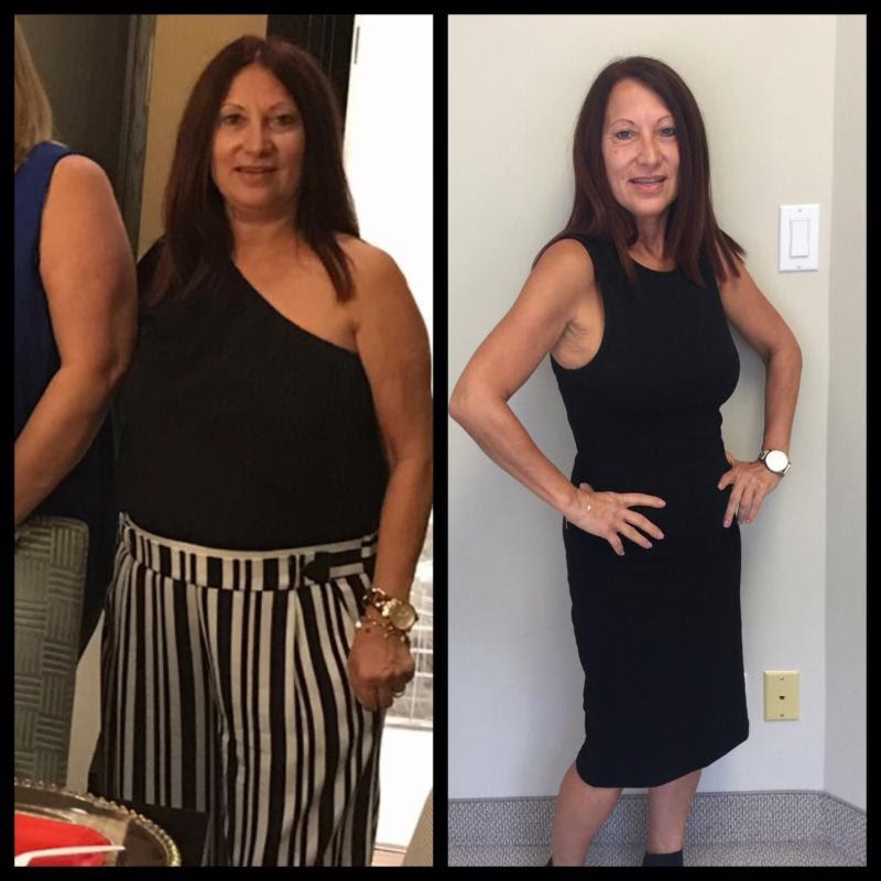 Santina lost 30 pounds