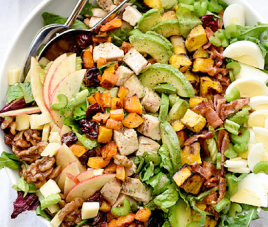 Apple cobb salad with honey Dijon dressing | Shulman Weightloss