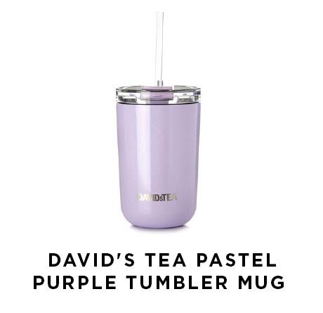 Davids Tea Pastel Purple Tumbler Mug