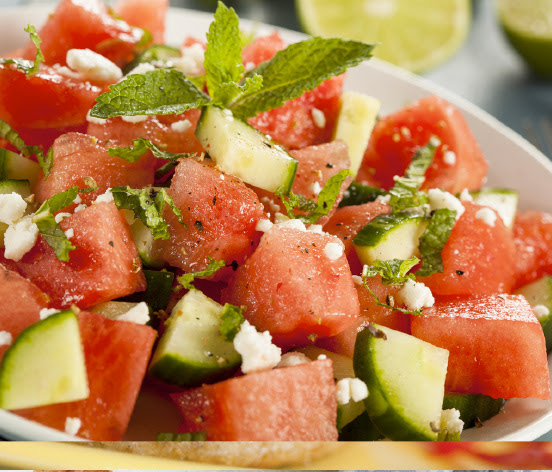Feta and watermelon salad | Shulman Weightloss