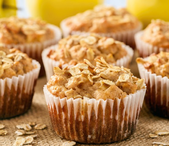 Apple oat breakfast muffins