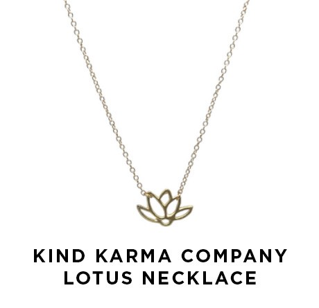 Kind Karma Company Lotus Necklace | Shulman Weightloss