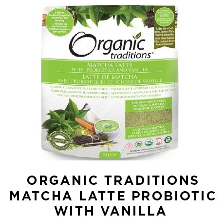 Ogranic Traditions Matcha Latte Probiotic with Vanilla