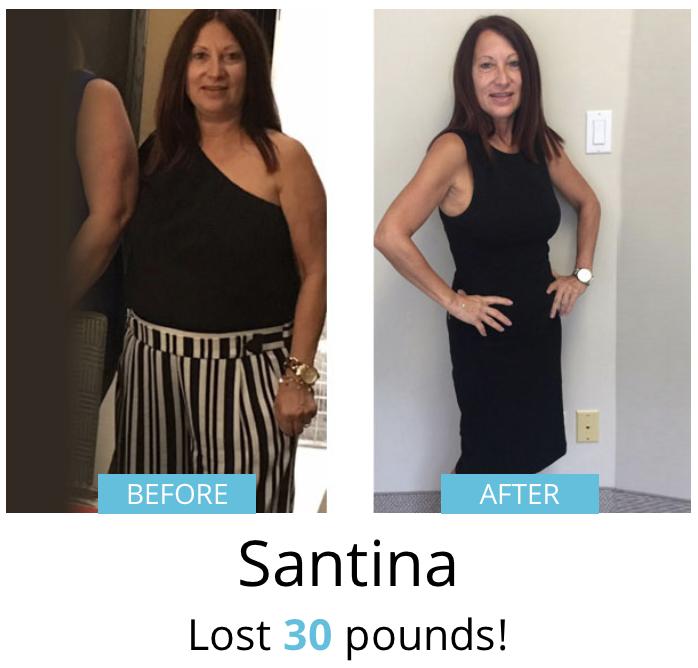Santina lost 30 pounds!
