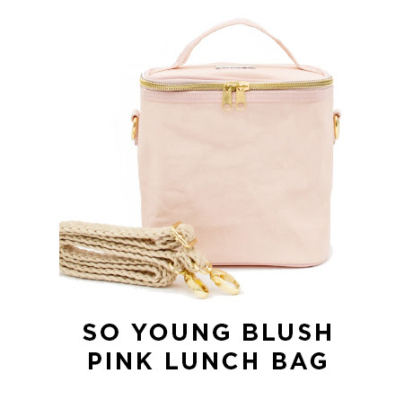 So young blush pink lunch bag