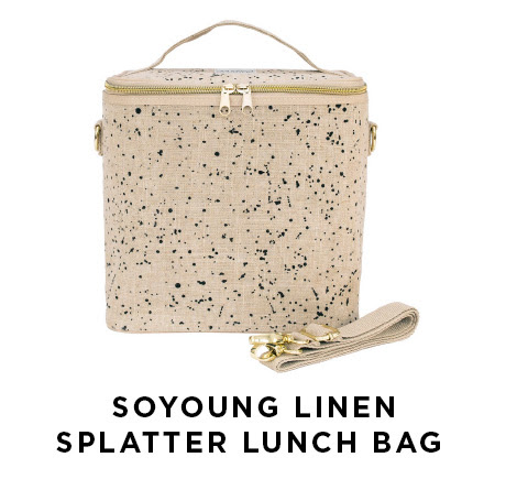 Soyoung linen splatter lunch bag