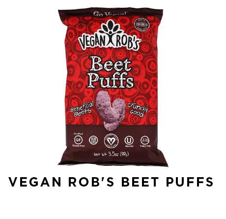 vegan Rob's beet puffs