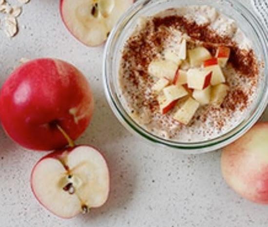 Spiced apple cinnamon overnight oats | Shulman Weightloss