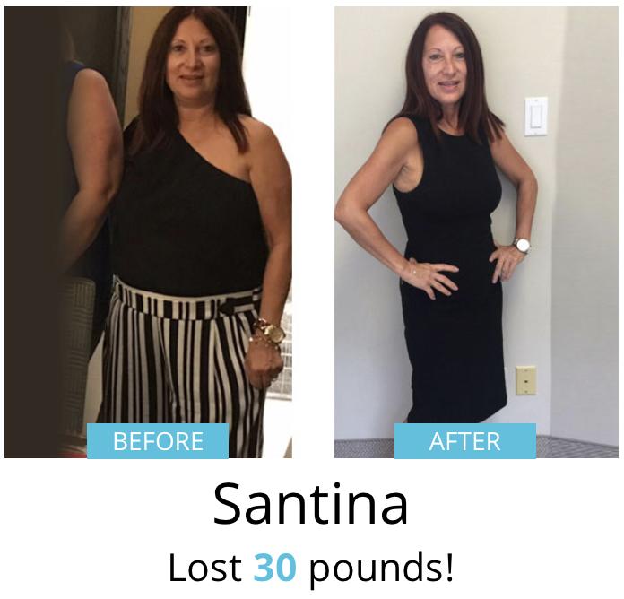 Santina lost 30 lbs!