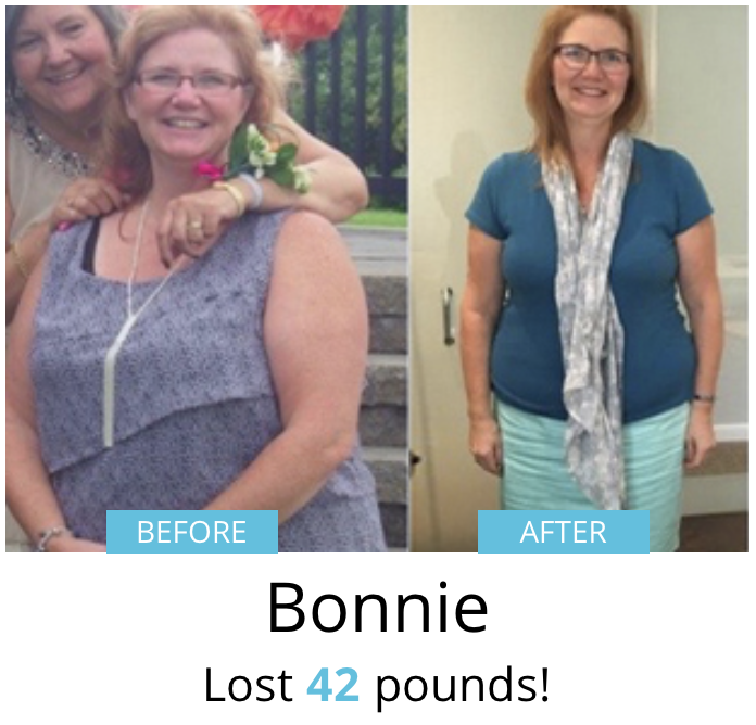 Bonnie lost 42 pounds!