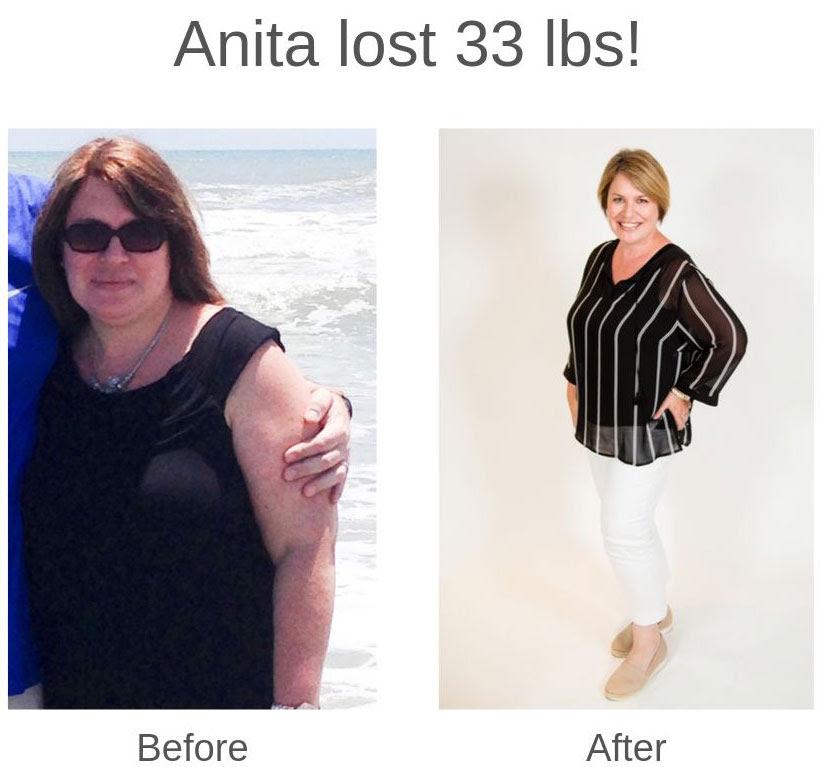 Anita lost 33 lbs!