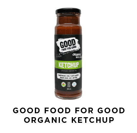 Good food for good organic ketchup