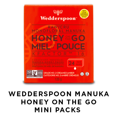 Wedderspoon manuka honey on the go mini packs
