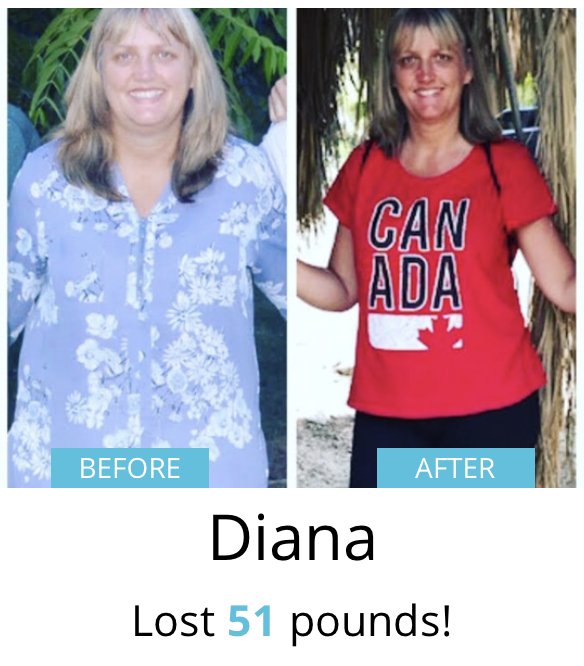 Diana lost 51 pounds